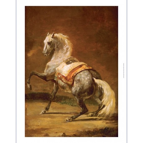"THEODORE GERICAULT ""Dappled Grey Horse"" CANVAS ART ! various SIZES available"