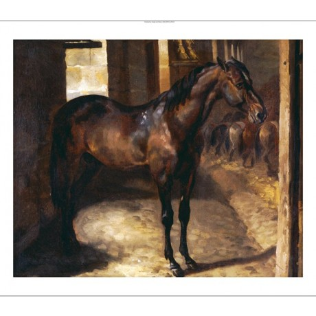 THEODORE GERICAULT Anglo-Arabian Stallion ON CANVAS various SIZES available, NEW