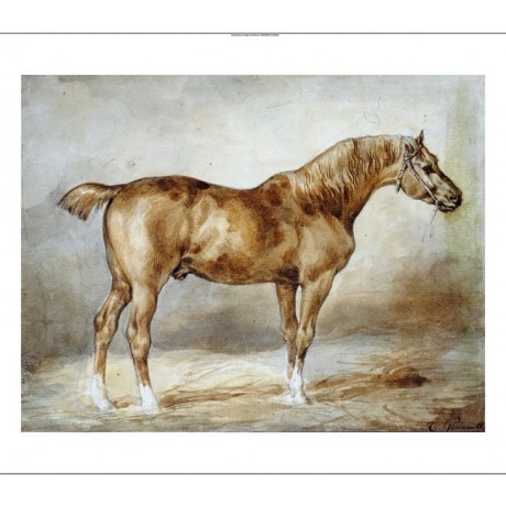 "THEODORE GERICAULT ""Cheval A L'Ecurie"" print NEW choose SIZE, from 55cm up, NEW"