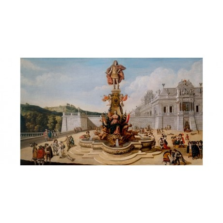 DIRCK STOOP Triumphal Fountain Habsburg Palace ELEGANT Courtiers statue CANVAS