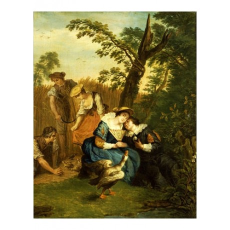 JAN JOSEF HOREMANS, THE YOUNGER Courting Couple PRINT various SIZES, BRAND NEW