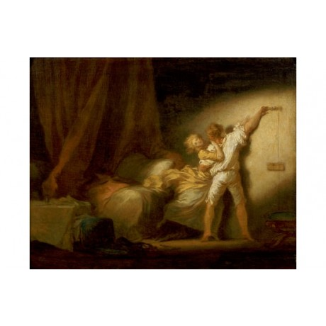 "JEAN-HONORE FRAGONARD ""Bolt"" portrait ON CANVAS choose SIZE, from 55cm up, NEW"