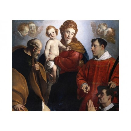 "CHRISTOFANO ALLORI ""The Madonna And Child"" CANVAS PRINT various SIZES, BRAND NEW"