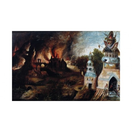 "HENRI MET DE BLES ""The Temptation Of St Anthony"" CANVAS various SIZES, BRAND NEW"