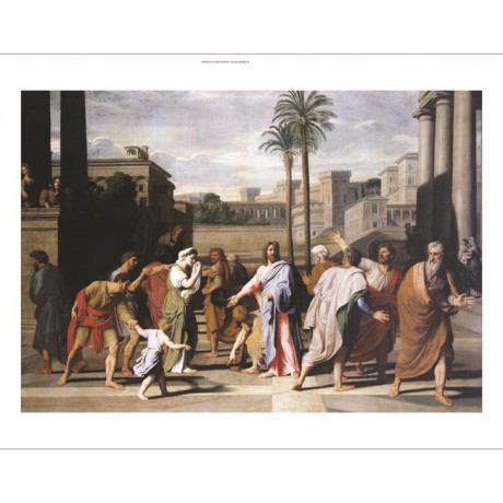 """NICHOLAS COLOMBEL """"Christ And Woman Taken in Adultery"""" various SIZES, BRAND NEW"""