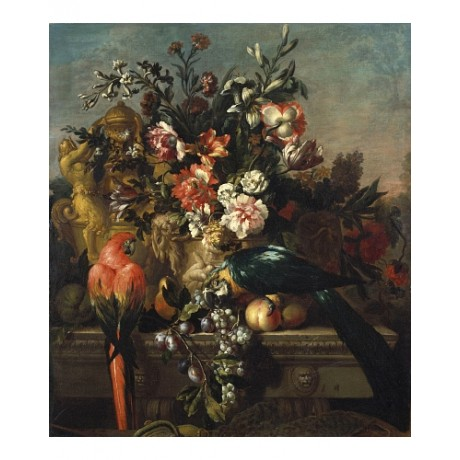 "PIETER CASTEELS ""Carnations And Other Flowers"" CANVAS! various SIZES, BRAND NEW"