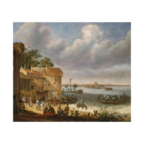 "ADAM WILLAERTS ""Peasants On The Beach With A Ferry"" NEW various SIZES, BRAND NEW"