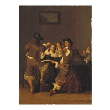 "DIRK HALS ""Elegant Figures Drinking And Merrymaking"" various SIZES available"