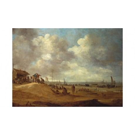"JAN VAN GOYEN ""A View Of Scheveningen"" CANVAS PRINT! various SIZES available"