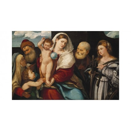 "BONIFAZIO VERONESE ""The Holy Family With St Catherine"" various SIZES, BRAND NEW"