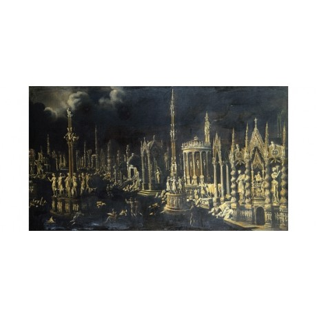 "MONSO DESIDERIO ""An Architectural Fantasy"" CANVAS PRINT various SIZES, BRAND NEW"