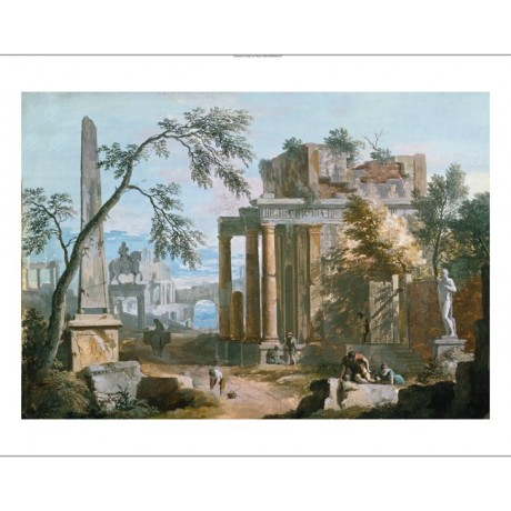 """MARCO RICCI""""Classical Capriccio With Porticoed Temple"""" various SIZES, BRAND NEW"""