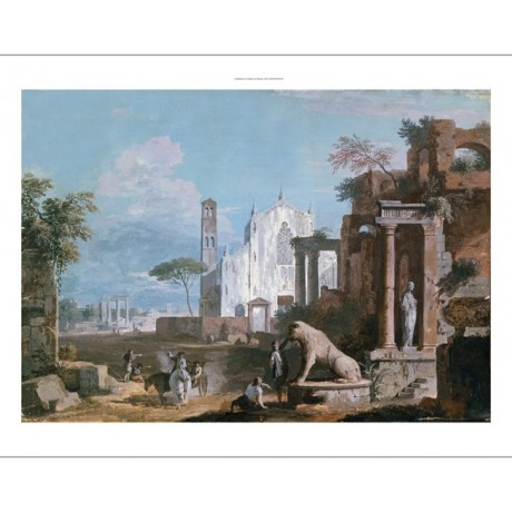 "MARCO RICCI ""Capriccio Of Ruins With Gothic Church"" NEW various SIZES, BRAND NEW"