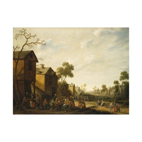 "JOOST CORNELIS DROOCHSLOOT ""Peasants Merrymaking"" PRINT various SIZES, BRAND NEW"