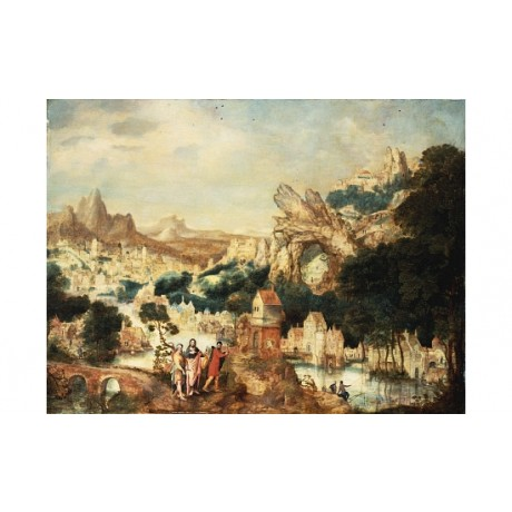 "HERRI MET DE BLES ""Christ On The Way To Emmaus"" CANVAS various SIZES, BRAND NEW"