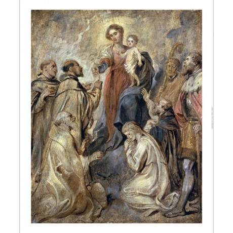 "SIR PETER PAUL RUBENS ""The Virgin And Child Of Rosary"" various SIZES, BRAND NEW"