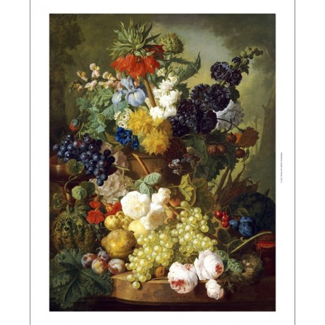 "JAN VAN OS ""Still Life Of Flowers And Fruit"" print NEW various SIZES, BRAND NEW"