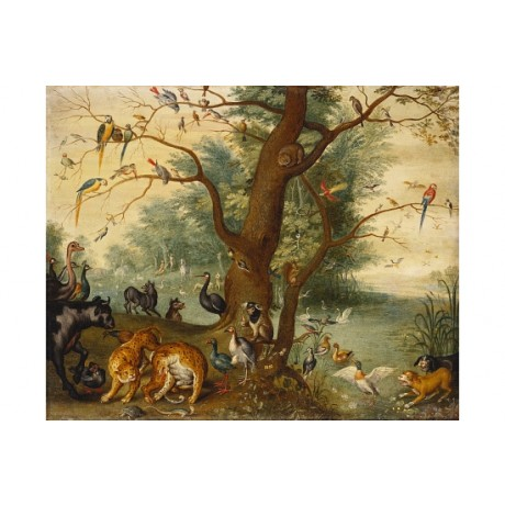 FERDINAND VAN KESSEL Animals Bird in Garden Of Eden NEW various SIZES, BRAND NEW