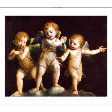 "BERNANDINO LUINI (FOLLOWER OF) ""Three Cherubs"" print various SIZES available"