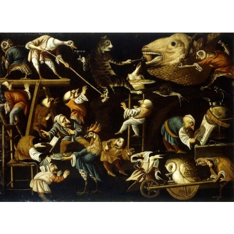 "FAUSTINO BOCCHI ""Imaginary Animals and DWARFS Fighting, Drinking and Carousing"""