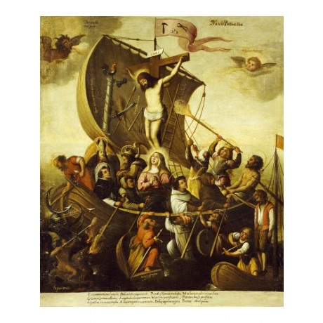ALEJANDRO DE LOARTE C (CIRCLE ) Boat Religious PRINT various SIZES available