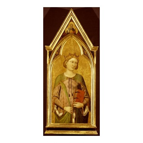 "JACOPO DEL CASENTINO ""Saint Catherine"" print NEW CANVAS various SIZES, BRAND NEW"