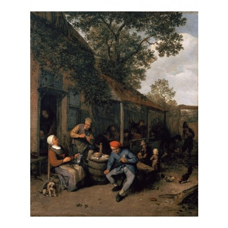 "ADRIAEN VAN OSTADE ""Peasants Smoking And Feasting"" NEW! various SIZES, BRAND NEW"