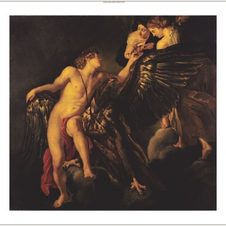 "ANONYMOUS ""Rape Of Ganymede"" Nude CANVAS ART ! choose SIZE, from 55cm up, NEW"