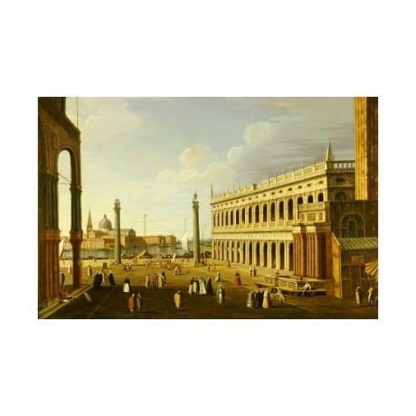 "WILLIAM JAMES (FOLLOWER OF) ""Piazzetta, Venice"" PRINT various SIZES, BRAND NEW"