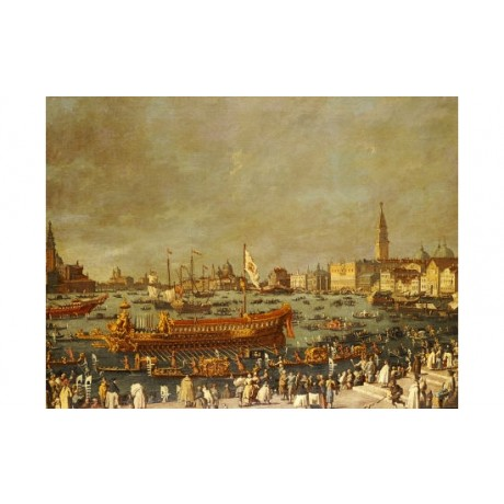 VENETIAN SCHOOL Doge Palace Venice PRINT ON CANVAS choose SIZE, from 55cm up