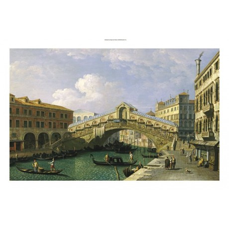 GIOVANNI ANTONIO CANAL (School) Rialto Bridge Venice various SIZES available