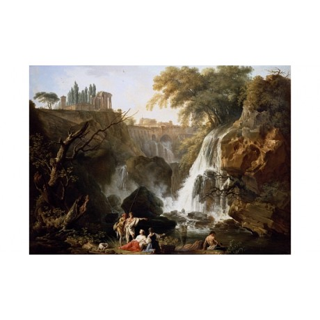 "CLAUDE-JOSEPH VERNET ""The Cascade At Tivoli"" ON CANVAS! various SIZES, BRAND NEW"