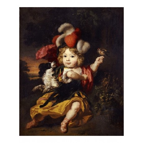 "NICOLAES MAES ""A Boy With A Finch And A Spaniel"" print various SIZES, BRAND NEW"