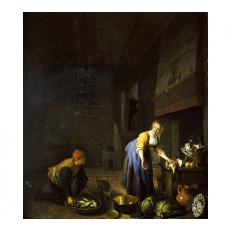 HENDRIK MENSZ SORGH Kitchen Maid Old Master PRINT choose SIZE, from 55cm up, NEW