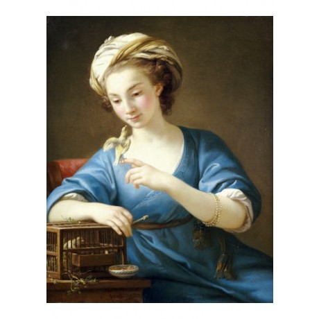 "JOSEPH MARIE VIEN ""Young Woman"" Portrait PRINT choose SIZE, from 55cm up, NEW"