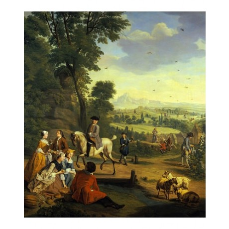 JAN JOSEF HOREMANS Hawking Party CANVAS ART ! choose your SIZE, 55cm to X LARGE