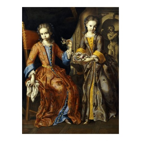 "DOMENICO BOCCIARDO ""Portrait Of Two Girls"" ON CANVAS various SIZES available"