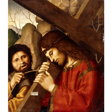 "MARCO PALMEZZANO ""Christ Carrying the Cross"" HUMILIATION cruelty CANVAS PRINT"