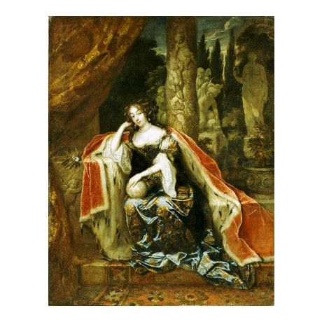 CASPAR NETSCHER Queen Mary Stu II Portrait PRINT choose SIZE, from 55cm up, NEW