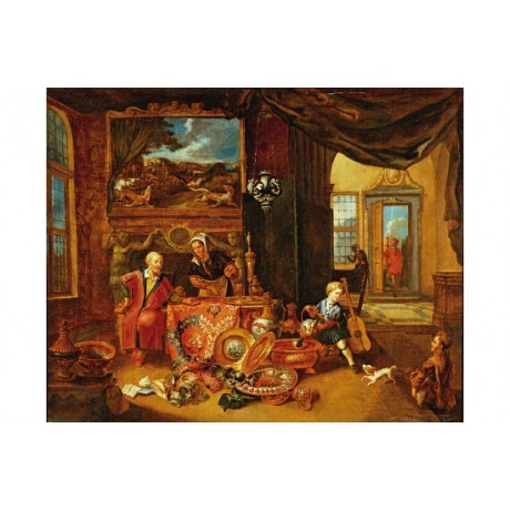 SMOUT Miser Garnering Treasure LAVISH wealth opulence servant greed NEW CANVAS