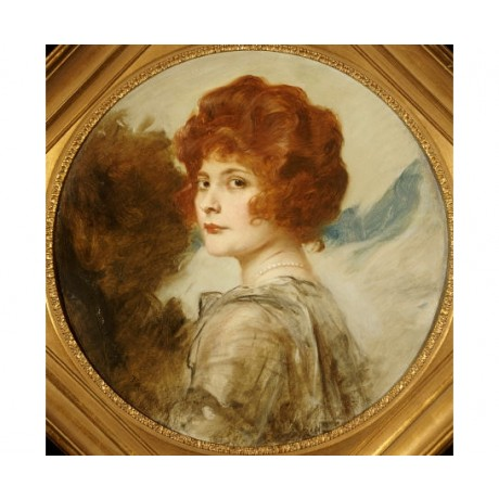 FRIEDRICH AUGUST VON KAULBACH Portrait Woman PRINT choose SIZE, from 55cm up