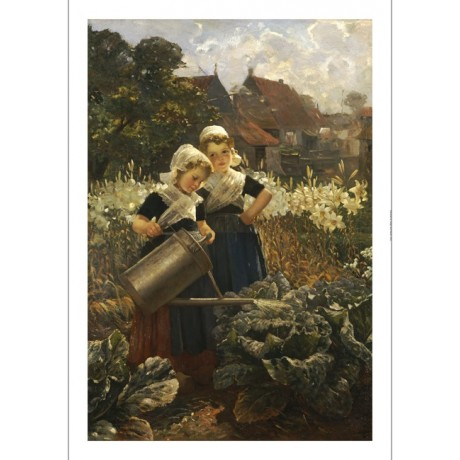 "EDMUND LOUYOT ""Little Gardeners"" portrait ON CANVAS various SIZES available, NEW"