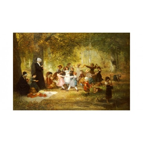 "ANTON DIEFFENBACH ""Ring A Ring A Roses"" CANVAS ART choose SIZE, from 55cm up"