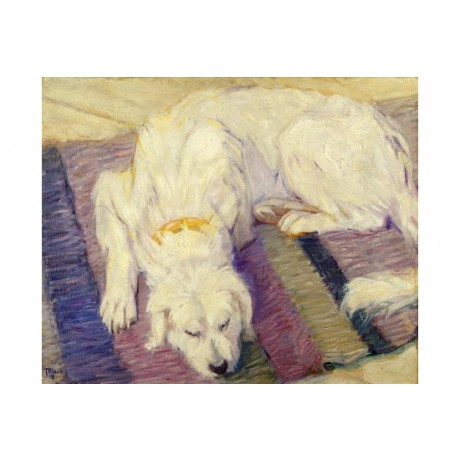 "FRANZ MARC ""Liegender Hund"" print NEW ON CANVAS choose SIZE, from 55cm up, NEW"