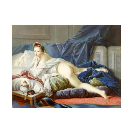 FRANCOIS BOUCHER (SCHOOL OF) L'Odalisque Brune nude various SIZES available, NEW