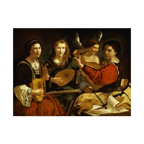 "PIETRO PAOLINI ""Concert"" MUSIC print ON CANVAS choose SIZE, from 55cm up, NEW"
