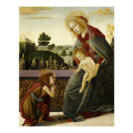 SANDRO BOTTICELLI Madonna And Child RELIGIOUS PRINT NEW various SIZES, BRAND NEW