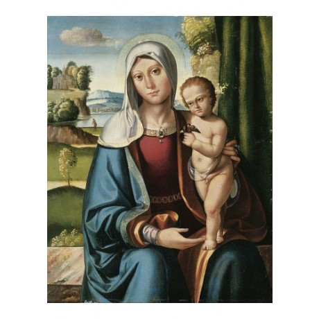 BENVENUTO TISI DA GAROFALO Madonna And Child new CANVAS various SIZES, BRAND NEW