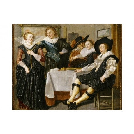 "DIRCK HALS ""A Merry Company"" OLD MASTER PRINT NEW choose SIZE, from 55cm up, NEW"