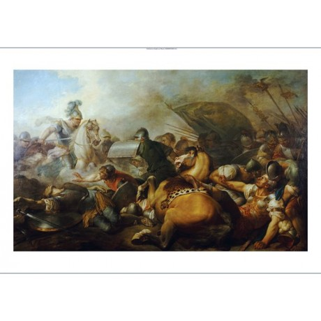 Military print Two Roman Legion Enemies ON CANVAS art various SIZES, BRAND NEW